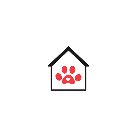 pet house vector logo
