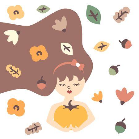 autumn modern trendy vector illustration Banque d'images - 129114965