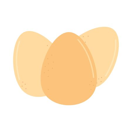 vector flat eggs icon isolated on white background