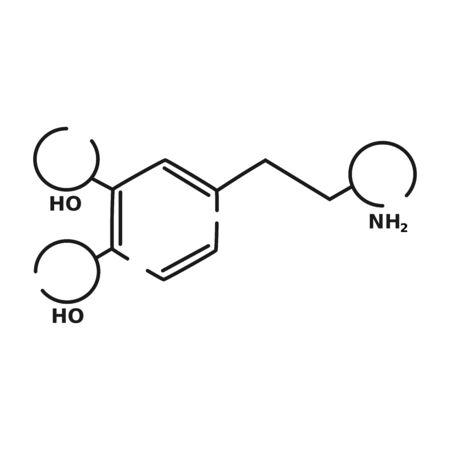 dopamine vector black linear flat style icon