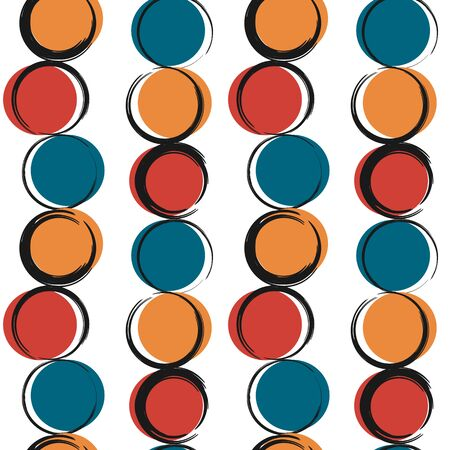 abstract modern seamless vector pattern background illustration with colorful grunge circles