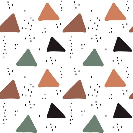 modern seamless vector pattern background illustration with colorful grunge triangles and abstract elements