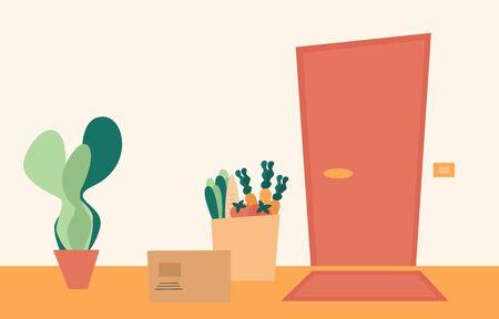 Food delivery service concept vector illustration Illustration