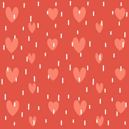 cute lovely romantic valentine's day seamless vector pattern background illustration with hearts Ilustração