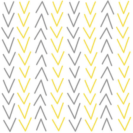 Cute modern abstract seamless vector pattern background illustration with yellow and gray chevron Ilustração