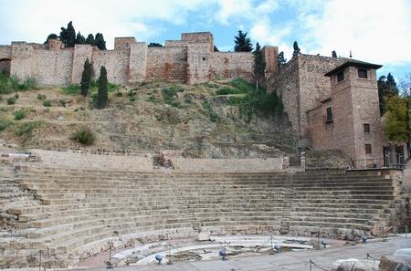 alcazaba: Alcazaba and Roman theater, Malaga Stock Photo