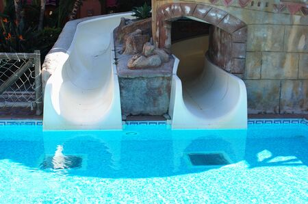 water park: Water park with slides