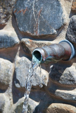 malaga: Water source in Torrox, Malaga