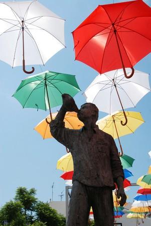 malaga: Sculpture in the town of Torrox in Malaga Stock Photo