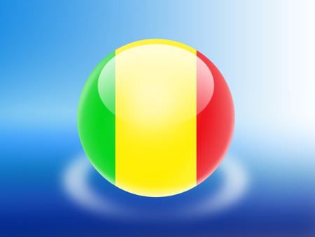 mali: Mali flag Stock Photo