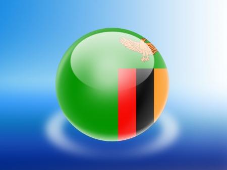 zambia flag: Zambia flag Stock Photo