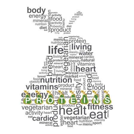 fruttosio: Nutrizione illustrazione Vettoriali