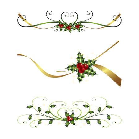 silver christmas: christmas illustration Illustration