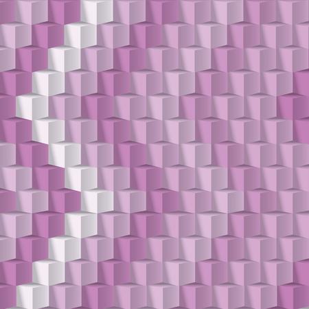 solid figure: cubi parete Vettoriali