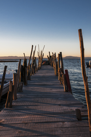 Carrasqueira, natural reserve of the estuary of the river Sado, in Portugal Stock Photo