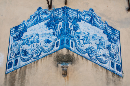 Old, artistic and decorative tiles
