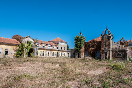 Old and abandoned historic palace Stock Photo