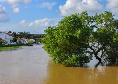 Farmland flooded