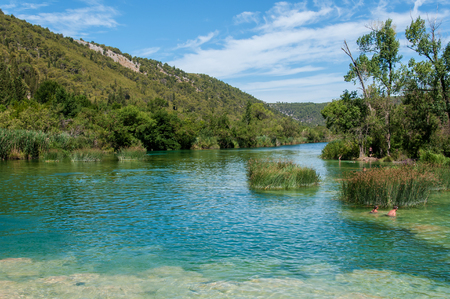 The Krka National Park is located in Croatia and is well known for its seven waterfalls