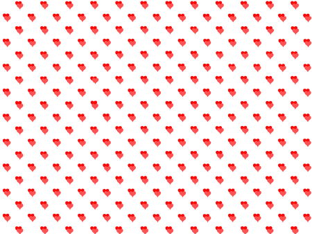 Background made up of hearts