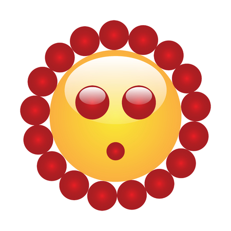 Emoji of a face of a flower Stock Photo