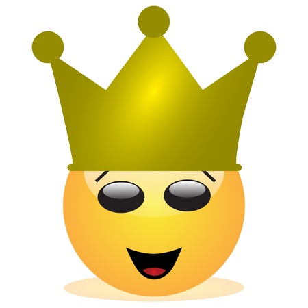 Emoji of a face of a king