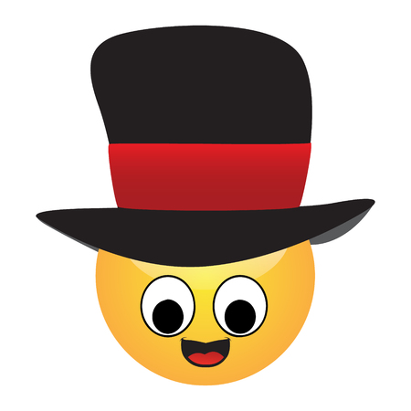 Emoji of a face of a man with hat