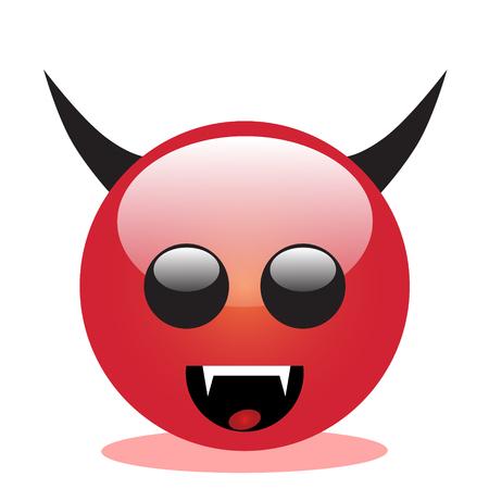 Emoji of a face of devil
