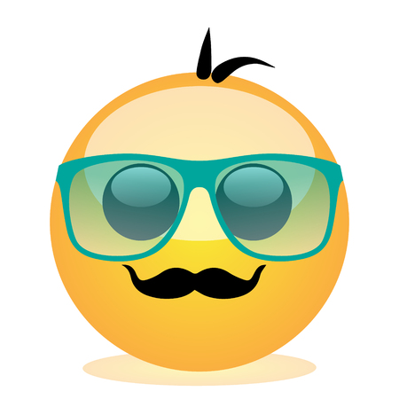 Emoji of a face of a man with mustache