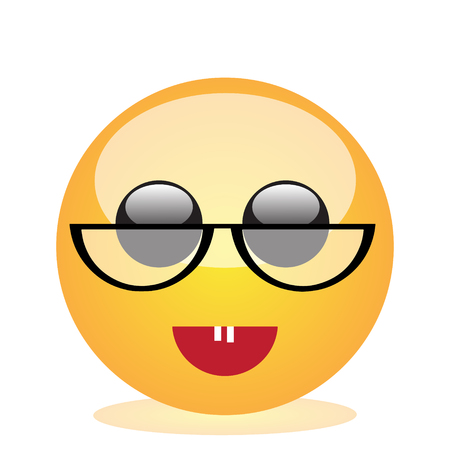 Emoji of a face of a smiling lady Stock Photo