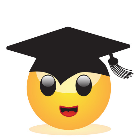 Emoji of a face of a student
