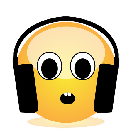 Emoji of a face of a boy with headphones