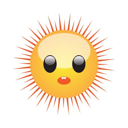Emoji of a face of sun