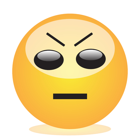 Emoji of a face of an angry man