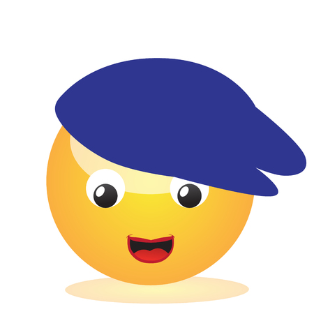 Emoji of a face of a boy with beret