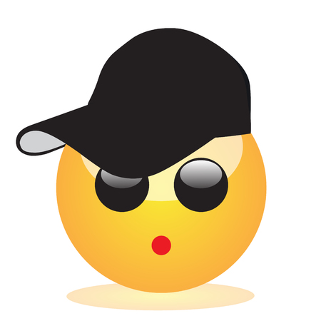 Emoji of a face of a boy with a cap