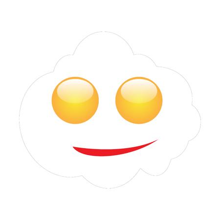 Emoji of a face of a fried egg
