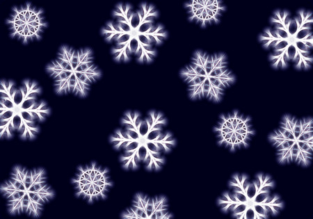 Christmas background with snowflakes Stock Photo
