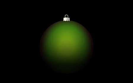 Dark christmas background with green ball Stock Photo