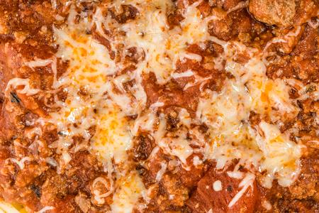 bolognese sauce: Texture of spaghetti bolognese sauce