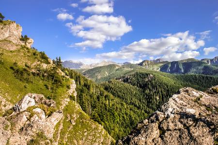 giewont: Panorama of mountain range, Tatras Mountains, landscape, Poland