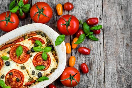 Vegetarian food plate, greek cuisine of mediterranean diet, healthy eating, cooking concept