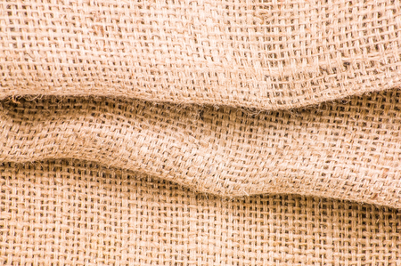 sackcloth: Wrinkled jute sackcloth texture