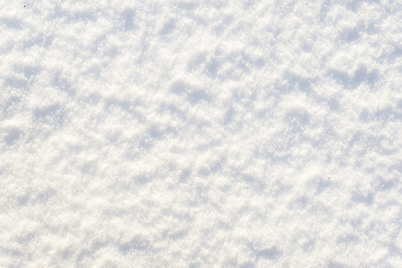 White texture of snow, background, snowflakes surface Stockfoto