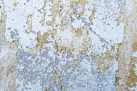 White texture of wall, background with old paint peel