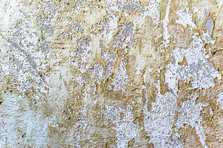 White texture of wall, background with paint peeled Stock Photo