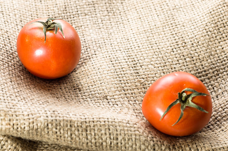 Fresh tomatoes, organic vegetables from local market on rustic background Reklamní fotografie