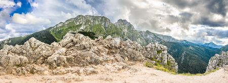 giewont: Top of mountain, panoramic landscape, Tatra Mountains rocks Stock Photo