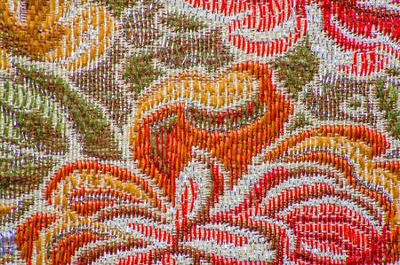 꽃 패턴, 근접 촬영 복고풍 섬유 스톡 콘텐츠