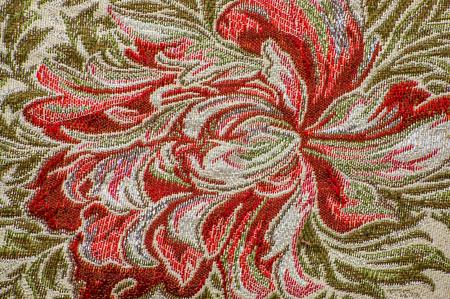 복고풍 섬유, 꽃 패턴, 배경 텍스처